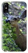 Deer Having Lunch IPhone Case
