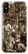 Deer Hunters  With Rifles Circa 1917 IPhone Case
