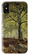 Deer In A Wood IPhone Case