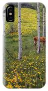Deer In Spring IPhone Case