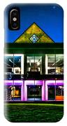 Defiance College Library Night View IPhone Case
