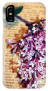 Defining Lilacs IPhone Case