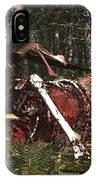 Deinonychus & Coloborhynchus Birds Feed IPhone Case