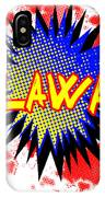 Delaware Comic Exclamation IPhone Case