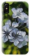 Delicate Plumbago Painted In Van Goch Style IPhone Case