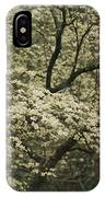 Delicate White Dogwood Blossoms Cover IPhone Case
