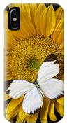 Delightful White Butterfly IPhone Case