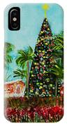 Delray Beach Christmas Tree IPhone Case