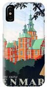 Denmark, Rosenborg Castle, Vintage Travel Poster IPhone X Case