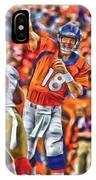 Denver Broncos Peyton Manning Oil Art IPhone Case