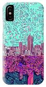 Denver Skyline Abstract 7 IPhone Case