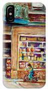 Depanneur St.viateur IPhone Case