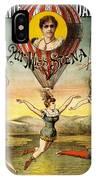 Descente D'absalon Par Miss Stena - Aerialists, Circus - Retro Travel Poster - Vintage Poster IPhone Case