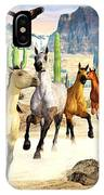 Desert Horses IPhone Case