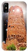 Desert View Tower, Starry Night, Grand Canyon IPhone Case