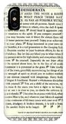 Desiderata 16 IPhone Case