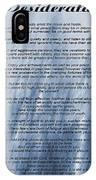 Desiderata - Blue IPhone Case