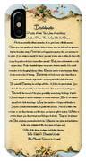 Desiderata Poem On Antique Paris Postcard IPhone Case