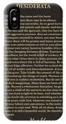 Desiderata Signature Collection IPhone Case
