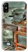Desk Or Typewriter IPhone Case