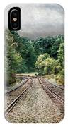 Destination Unknown, Travel Journey Train Tracks IPhone Case