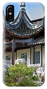 Detail Chinese Garden With Rocks. IPhone Case