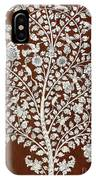 Detail Of A Vintage Botanical Pattern IPhone Case