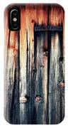 Detail Of An Old Wooden Door IPhone Case
