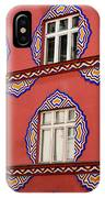 Detail Of Bright Facade Of The Cooperative Business Bank Buildin IPhone Case