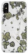 Detail Of Lichen On A White Rock Lake IPhone Case