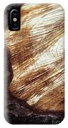 Detail Of Sawing Wood With Bark IPhone Case