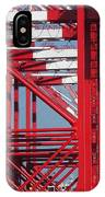 Detail View Of A Row Container Loading Cranes IPhone Case