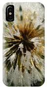 Dew Covered Dandelion IPhone Case
