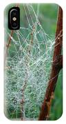 Dew Covered Spider Web IPhone Case