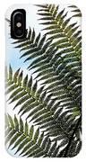 Dicksonia Frond IPhone Case