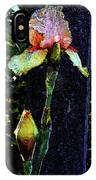 Digital Painting Pink And Yellow Iris 6758 Dp_2 IPhone Case