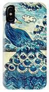 Digital Peacock 1 IPhone Case