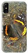 Digital Red Admiral Butterfly - Vanessa Atalanta IPhone Case