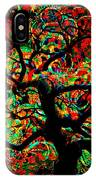 Digital Tree Impressionism Pixela IPhone Case