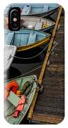 Dinghies At Town Wharf IPhone Case