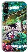Dining At The Hibiscus Cafe - Iguana IPhone Case