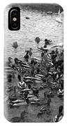 Dinner Is Served - Black And White IPhone Case