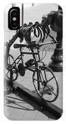 Dinosaur Biking Sculpture Grand Junction Co IPhone Case