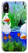 Dipping Duckies - Furry Forest Friends Mural IPhone Case