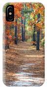 Autumn Scene Dirt Road IPhone Case