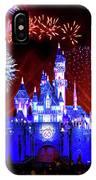 Disneyland 60th Anniversary Fireworks IPhone Case