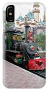 Disneyland Railroad Engine 3 With Castle IPhone Case