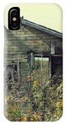 Distressed Honey House Door County Wisconsin IPhone Case
