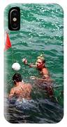 Divers At Sebastian Inlet On The Atlantic Coast Of  Florida IPhone Case
