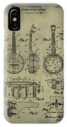 Dixie Banjolele Patent 1954 In Weathered IPhone Case